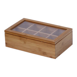 Oceanstar Bamboo Tea Box - Keep your tea collection and assortment organized with the Oceanstar Bamboo Tea box made from 100% bamboo. The practical tea box can also act as storage for an array of items such as crafts, screws, small supplies, and other small collections. Impress your friends and family with this wonderfully crafted tea box for your home or present it as the perfect gift for tea lovers.