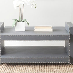 Safavieh - Safavieh Garson Grey Coffee Table - The design possibilities are endless with the stylish Garson coffee table by Safavieh.