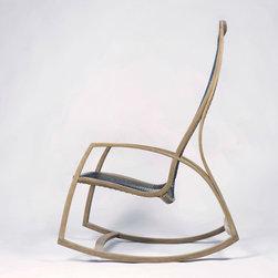 Rocking Chair No. 2 - Pictured in white oak, mono filament, soap finish.