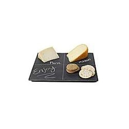Slate Cheese Serving Board - Photo was found online I just had to share it here because I love the idea of using chalk to label cheese or other foods on the slate board for serving at a party or gathering.