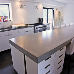 Concrete kitchen tops and island - Polished concrete countertops,Brooklyn,NY.
