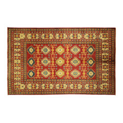 Manhattan Rugs - New Authentic Oriental Medallion 7x10 Hand Knotted Cranberry Red Wool Rug H3395 - This is a true hand knotted oriental rug. it is not hand tufted with backing, not hooked or machine made. our entire inventory is made of hand knotted rugs. (all we do is hand knotted)