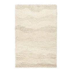 Surya - Topography White Rug - Features: -Technique: Woven.-Origin: India.-Construction: Handmade.-Collection: Topography.-Distressed: No.-Collection: Topography.Specifications: -Material: 100% Wool.Dimensions: -Overall Product Weight: 6 lbs.
