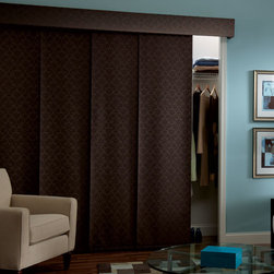 Bali - Bali Sliding Panels: Damask & Portico - Bali Sliding Panels offer a modern alternative to standard window treatments perfect for patio doors or as a room divider.  The Damask collection is a timeless jacquard design in contemporary colors while Portico features a vine pattern.