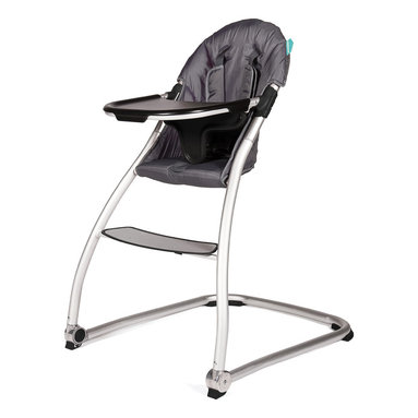BabyHome - BabyHome Taste High Chair, Dark Gray - Taste is a very light, simple and safe high chair with a polished aluminum frame and a wide, stable base. The seat is large and comfortable with a quilted liner. It has a new system to easily remove the tray sideways without having to remove it completely using only one hand.  features: