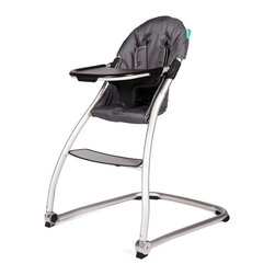 BabyHome - BabyHome Taste High Chair in Dark Grey - Taste is a very light, simple and safe high chair with a polished aluminum frame and a wide, stable base. The seat is large and comfortable with a quilted liner. It has a new system to easily remove the tray sideways without having to remove it completely using only one hand.  features: