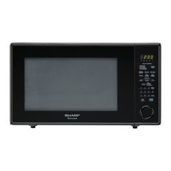 "Sharp - 2.2 Cu.Ft, 1200W with 16"" Tunrtable, Sensor, Keep Warm Function - The Sharp Carousel R659YK 2.2 Cu. Ft. 1200W Countertop Microwave Oven, in black, is a well-designed, extra-large microwave oven with a scratch-resistant glass door and a 16-inch glass, Carousel turntable. This family-friendly microwave oven combines a stunning appearance with smart, time-saving features including sensor cook, one-touch settings and softening options. Sensor cooking technology automatically determines cooking time and eliminates guesswork making microwave cooking easier than ever. Plus, the Keep Warm Plus feature lets you keep food warm for 30 minutes after cooking with no loss of food quality.2.2 cu. ft. capacity microwave oven with removable 16-inch glass turntable"