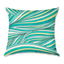 DiaNoche Designs - Pillow Woven Poplin from DiaNoche Designs by Pom Graphic Design Organic Forest - Toss this decorative pillow on any bed, sofa or chair, and add personality to your chic and stylish decor. Lay your head against your new art and relax! Made of woven Poly-Poplin.  Includes a cushy supportive pillow insert, zipped inside. Dye Sublimation printing adheres the ink to the material for long life and durability. Double Sided Print, Machine Washable, Product may vary slightly from image.