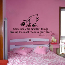 ColorfulHall Co., LTD - Kids Wall Decals Lovely Winnie the Pooh Cartoon Animals - Kids Wall Decals Lovely Winnie the Pooh Cartoon Animals
