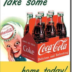 Tin Sign : Coke Sprite Boy Take Home - Tin Sign : Coke Sprite Boy Take Home by  Unknown. 16.0 X 12.5 inches. Give your home the that nostalgic feel with Tin Signs! You will find old style signs for your Bathroom, Living Room, Garage and even Bar Tin Signs.  Please check the exact shipping times on the item details. Actual item does not have any watermarks. All items ship fully insured, largest selection, and high end frame.