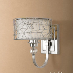 "22484 Brandon, 1 Lt Wall Sconce by uttermost - Get 10% discount on your first order. Coupon code: ""houzz"". Order today."