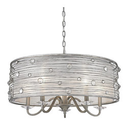Golden Lighting - PS 5 Joia Chandelier - Golden Lighting specializes in the design and manufacture of high quality residential lighting products and accessories.
