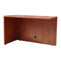 "Boss - Return-Reversible - Cherry - 47"" reversible return. Used to connect desk shells and credenza's this unit is functional in either right or left handed applications. The Cherry laminate is durable yet attractive with 3mm edge banding."