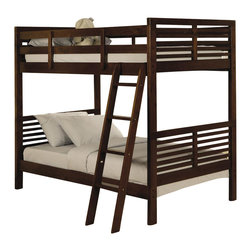 Homelegance - Paula Bunk Bed - Note: ivgStores does not offer assembly on loft beds or bunk beds.