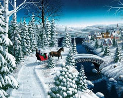 Sleigh Ride Puzzle - 1000 Piece Jigsaw PuzzleBundle up with some hot-cocoa and head through the woods on our winter Sleigh Ride! With so much snow and similar colors, this sleigh ride is     sure to provide hours of enjoyment!