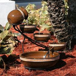Smart Solar - Smart Solar Sundance Mosaic Ceramic Solar Cascade Fountain -