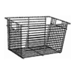 "SCHULTE DISTINCTIVE STORAGE - 7510141334 13 In. Chrome ACC Basket - Freedomrail 6"" chrome basket"