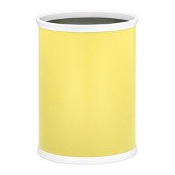 Kraftware - Bartenders Choice Fun Colors Oval Wastebasket in Lemon - Made in USA. 12 in. W x 8 in. D x 15 in. H (2 lbs.)Our Fun Colors Collection features the hottest colors for the season, to provide you with great entertaining items, with up to the minute styling. Great for indoor and outdoor entertaining.