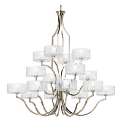 Thomasville Lighting - Thomasville Lighting Caress Chandelier with Etched, Polished Nickel - Thomasville Lighting Caress Chandelier with Etched, Polished Nickel X-BW401-5864P
