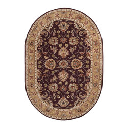 """Surya - Surya Caesar Hand Tufted Burgundy Wool Square Rug, 9'9"""" - Surya's best selling creations have been infused with possibilities as the Caesar collection takes on new life. Designer color combinations including deep browns, charcoal gray, and muted red make these time-honored pieces suitable for any interior. Hand tufted in India of 1% wool, each rug is available in over 2 sizes, and in a variety of styles such as round, square, oval and mansion-sized. Imported.Material: 100% WoolCare Instructions: Blot Stains"""