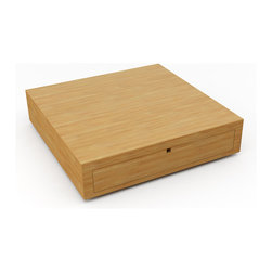 "Viesso - Gio 36"" x 36"" Coffee Table - One of the many great things about the Gio 36"" x 36"" Coffee Table is the multitude of options available. With different color, leg, and storage options, this simple box can become the exact piece you need for your space.It may be just a box. No fancy style. No real decadence. But this modern end table, made from solid bamboo and high quality materials, still comes with a great deal of style and appeal. The storage on the Gio table makes your space more functional. And as with any good modern end table, this functionality is melded into a smart design. These are made one at a time in Los Angeles, so if you have a custom size we can make it for at no extra cost."