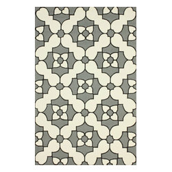 """nuLOOM - 7' 6""""x9' 6"""" Grey Hand Hooked Area Rug Trellis HK90 - Made from the finest materials in the world and with the uttermost care, our rugs are a great addition to your home."""
