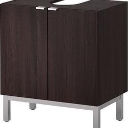 IKEA of Sweden - LILLÅNGEN Sink base cabinet with 2 door - Sink base cabinet with 2 door, black-brown