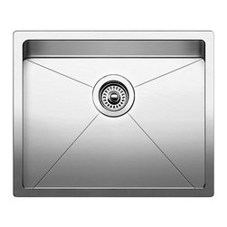 Blanco - BLANCO QUATRUS R15 Stainless Steel Small Single Bowl Undermount Sink - BLANCO 519546 QUATRUS R15 Stainless Steel Small Single Bowl Undermount Sink