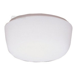 "Kichler Lighting - KICHLER 8010WH Ceiling Space Transitional Flush Mount Ceiling Light - This ceiling light features White Satin-etched cased opal glass that utilizes a twist lock, glass-mounting design. It measures 10 ½"" in diameter and uses two, 75-watt (max.) bulbs for fantastic everyday light."