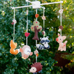 Woodland Wonders Baby Mobile by Lollipop Moon - Woodland creatures make this mobile especially adorable. It's absolutely perfect for a little boy's room that uses greens and browns.