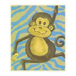 Stupell Industries - Lil Buddy Monkey and Polka Dot Wall Print Wall Plaque - Made in USA. MDF Fiberboard. Hand finished and packed. Approx. 15 in. W x 11 in. L. 0.5 in. ThickThe Kids Room by Stupell features exceptional handcrafted wall decor for children of all ages.  Using original art designed by in-house artists, all pieces feature hand painted and grooved borders as well as colorful grosgrain ribbon for hanging.  Made in the USA, everything found in The Kids Room by Stupell exudes extraordinary detail with crisp vibrant color. Whether you are looking for one piece to match an existing room's theme, or looking for a series to bring the kid's room to life, you will most definitely find what you are looking for in The Kids Room by Stupell.