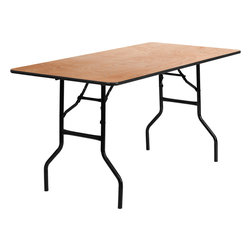 Flash Furniture - Flash Furniture 30 Inch x 60 Inch Rectangular Wood Folding Banquet Table - This wood folding table is very useful since it can be instantly stored and is easy to carry at the same time. This durable table was built for constant use in hotels, banquet rooms, training rooms and seminar settings. Not only is this table durable enough for the everyday rigors of commercial use this table can be used in the home when it comes to setting up your own personal party plans. [YT-WTFT30X60-TBL-GG]
