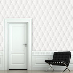 "Quilted Wallpaper, Fresh Linen, 25"" X 7.5' - ""Swag Paper - Empowering the Do-It-Yourselfer:"