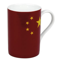 Konitz - Set of 4 Flag Mugs China - Show your national pride with this patriotic mug in a Chinese Flag design. The China Flag Mug is perfect for celebrating national holidays or showing love for your country. The bottom of the mug explains the unique symbolism of the flag, in English and Chinese: the red background stands for blood lost in the liberation of China, the big star stands for the Communist Party of China, and the four smaller stars represent the Chinese people.