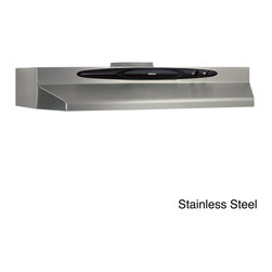 Broan - Broan QT236 Series 36-inch Under Cabinet 200 CFM Range Hood - The Broan QT20000 range hood combines modern styling and quiet operation to make cooking more relaxing and social. The larger filter area captures steam and odor for a more enjoyable kitchen experience, especially when you're serving a crowd.