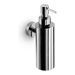WS Bath Collections - Baketo 5217 Soap Dispenser - Baketo by WS Bath Collections Wall-mount Soap Dispenser in Polished Chrome, Made of Solid Brass