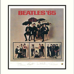 Amanti Art - The Beatles: Beatles '65 (Album Cover) Framed Print - The Beatles were a cultural phenomenon and their music defined a generation. Despite their break up in 1970, their music and story continues to inspire all ages all over the world.