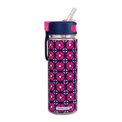 Jonathan Adler - Jonathan Adler Water Bottle with Straw, Iron Gate - The modern woman of today makes sure to stay highly hydrated at all times. And so, she sips from Jonathan Adler's undeniably chic water bottle, which comes complete with a built-in straw. It features rubberized lid for grip and a clip for ultimate portability.