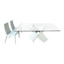 Rossetto - Sapphire Dining Set in White - Features: