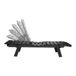 Eagle One - Eagle One Cafe Chaise Lounge With Wheels In Black - Add these easy to move optional wheels to your Cafe Chaise Lounge. Also compliment your furniture with comfort by adding Sunbrella's eye-catching cushions.