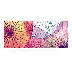 """Kess InHouse - Sylvia Cook """"Colorful Umbrellas"""" Multicolor Metal Luxe Panel (9"""" x 21"""") - Our luxe KESS InHouse art panels are the perfect addition to your super fab living room, dining room, bedroom or bathroom. Heck, we have customers that have them in their sunrooms. These items are the art equivalent to flat screens. They offer a bright splash of color in a sleek and elegant way. They are available in square and rectangle sizes. Comes with a shadow mount for an even sleeker finish. By infusing the dyes of the artwork directly onto specially coated metal panels, the artwork is extremely durable and will showcase the exceptional detail. Use them together to make large art installations or showcase them individually. Our KESS InHouse Art Panels will jump off your walls. We can't wait to see what our interior design savvy clients will come up with next."""