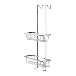 WS Bath Collections Filo Hanging Double Shelf Basket for Shower