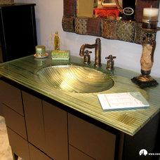 Bathroom Vanities And Sink Consoles by Coyote Glass Design