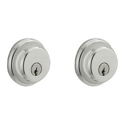 Schlage - Double Cylinder Deadbolt in Bright Chrome - B - Manufacturer SKU: B62N 625. Handle Type: Deadbolt. Deadbolt operates with a key on the exterior and a key on the interior. For use on exterior doors with glass panes or gates where additional security is needed. Maximum security deadbolt offers superior protection against attacks by crowbar, hammer, wrench, saw, lock pick, and kick-in. Lifetime Limited Mechanical & Finish Warranty. Coordinate with other Bright Chrome products. All metal chassis for strength and durability. Designed for standard door prep (fits existing pre-drilled holes). 1 in. L x 2.5 in. W x 2.5 in. H (1.2 lbs)