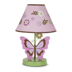 NoJo - NoJo Emily Lamp & Shade Multicolor - 4910067 - Shop for Lamps from Hayneedle.com! Illuminate your baby's room with the soft white light of the NoJo Emily Lamp & Shade. Designed to coordinate with the NoJo Emily nursery theme this lamp features a butterfly base and colorful petals on its shade. It uses a maximum 40-watt bulb.About NoJoOffering fashionable safe and reliable products throughout the United States for the past 40 years NoJo's goal is to offer fashion-forward infant and toddler bedding blankets and accessories that meet the demands of today's modern lifestyle. NoJo puts not only style into their products but comfort and safety too.