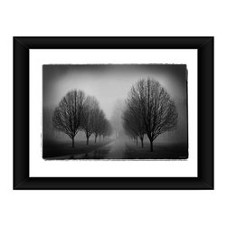 Linda McManus - Misty Drive, 20x30, Framed - Photos are meant to last a lifetime, so we design our products to do the same. Each image is carefully set by hand inside professional-quality matting, wrapped perfectly into its wooden frame and finished with a thick plate of real glass. One inch solid wood frame, professional matting, shatter proof acrylic, and Kodak archival photo paper combine to create a clean, classic look.