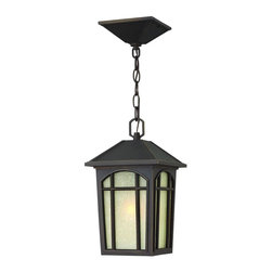 Hinkley Lighting - 1982OZ Cedar Hill Outdoor Hanging Lantern, Oil Rubbed Bronze, White Linen Glass - Transitional Outdoor Hanging Lantern in Oil Rubbed Bronze with White Linen glass from the Cedar Hill Collection by Hinkley Lighting.