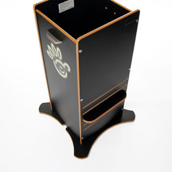 Luca and Company - FunPod, Black - The multi-award winning FunPod from the UK provides a safe environment to get toddlers from 12 months up to six years up to the kitchen worktop on their own safely constructed platform to help, interact, learn and play.