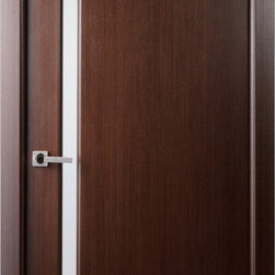 Grand 208 Interior Door Wenge - The Grand series of doors is the manifestation of charm and exquisite simplicity. The Grand 208 can accentuate any room, be it modern or classic. With its high quality construction, the Grand 208 has a strip of frosted glass spanning the whole height of the door. A look that is sure to set your doors apart from everyone else's.