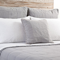 Antwerp Ocean Coverlet - The Antwerp Coverlet is embellished with a large quilted pattern. Made of 100% stone washed cotton. FREE SHIPPING!